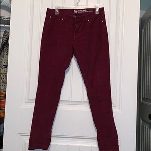 Gap brand burgundy corduroy pants!
